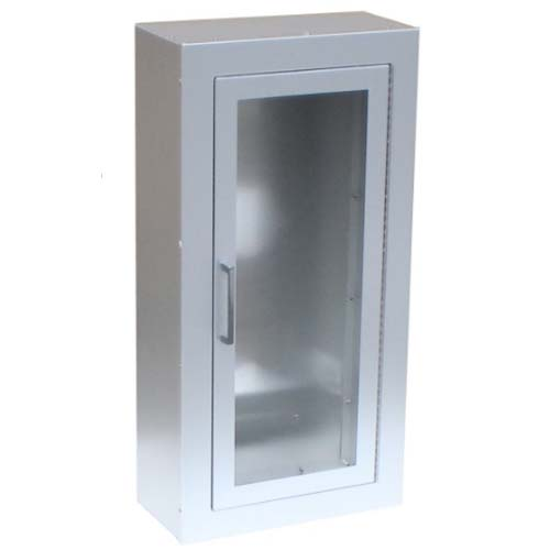Aluminum Surface Mount Full Glass Fire Extinguisher Cabinet