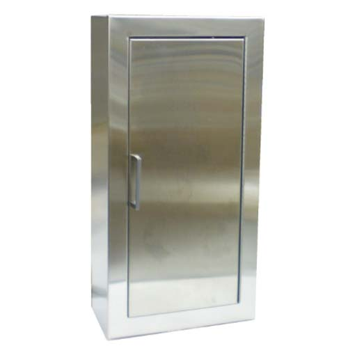 Stainless Steel Surface Mount Solid Door Fire Extinguisher Cabinet