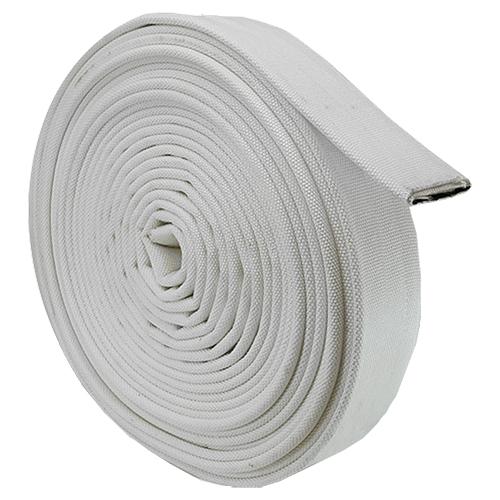 """White 1"""" x 100 Double Jacket Uncoupled Mill Hose"""