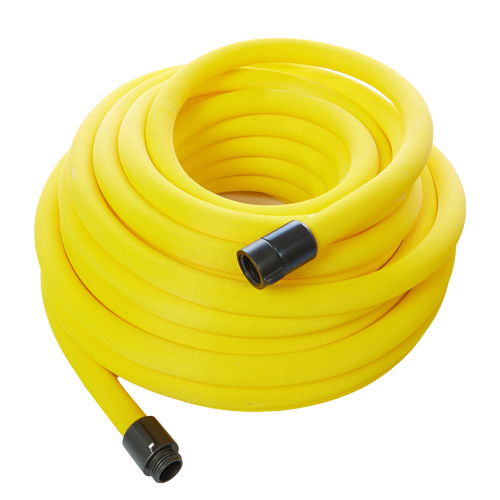 "Yellow 1"" x 100 Non-Collapsible Lightweight Hose (Alum 1"" NPSH Couplings)"
