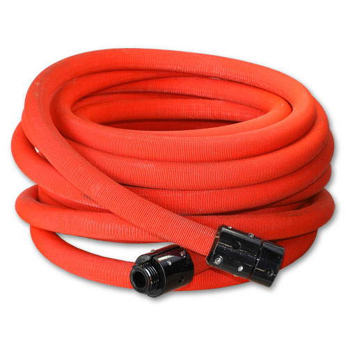 "Red 1"" x 100 Non-Collapsible Lightweight Hose (Alum 1"" NPSH Couplings - USA)"