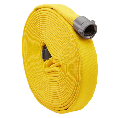 """Yellow 1"""" x 50 Double Jacket Industrial Hose (Alum NH Couplings)"""