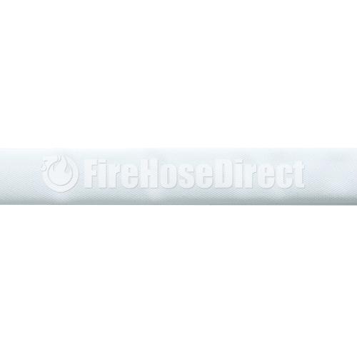 """White 1 1/2"""" x 50' Double Jacket Mill Hose (Alum NPSH Couplings) - 15D350P"""