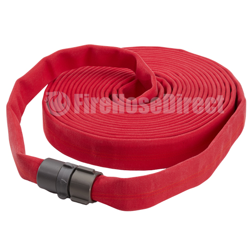 "Red 1 1/2"" x 15' Double Jacket Fire Hose (Alum NH Couplings) - 15D815RD"
