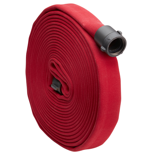 "Red 1 1/2"" x 15' Double Jacket Fire Hose (Alum NH Couplings)"