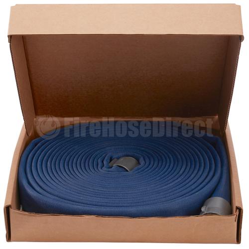 """Blue 1 1/2"""" x 50' Double Jacket Fire Hose (Alum NH Couplings) - 15D850BL"""