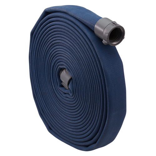 "Blue 1 1/2"" x 50 Double Jacket Fire Hose (Alum NH Couplings)"