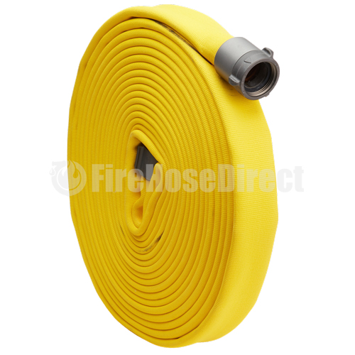 """Key Fire Big 10 Yellow 1 1/2"""" x 50' Double Jacket Fire Hose (10 Pack) - 15D850YL-10"""