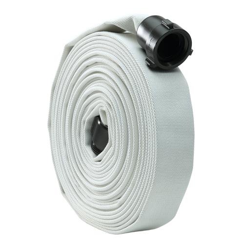 "White 1 1//2/"" x 50/' Single Jacket Mill Hose Alum NH Couplings"