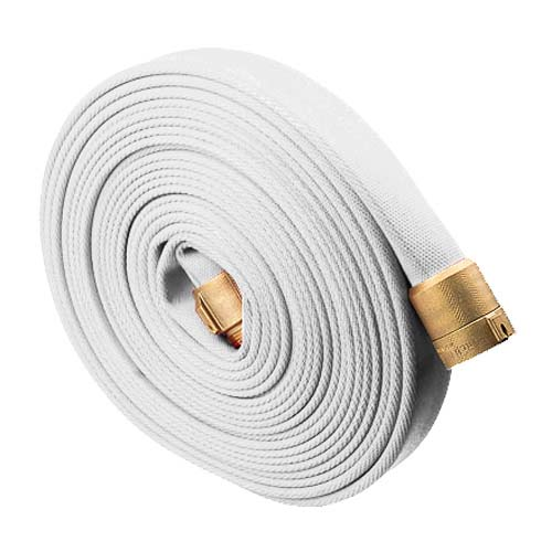 "White 1 1/2"" x 50 Single Jacket Hose (Brass NPSH Couplings)"