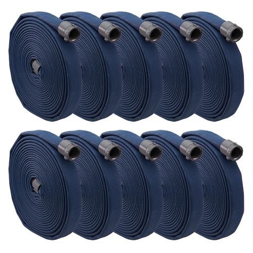 """Key Fire Big-10 Blue 1 3/4"""" x 50 Double Jacket Fire Hose (10 Pack)"""