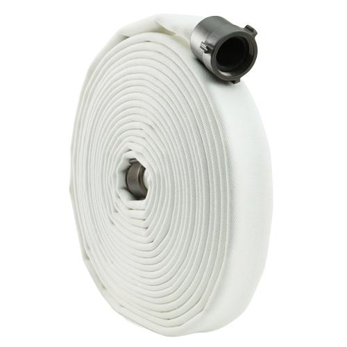 "White 2"" x 50 Double Jacket Mill Hose (Alum NPSH Couplings)"