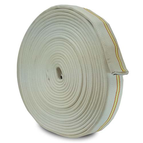 """White 2"""" x 100 Double Jacket Uncoupled Industrial Hose fire hose, firefighting hose , firefighter hose"""
