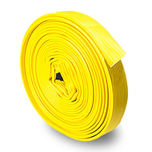 """Yellow 2.0"""" x 100 Rubber Uncoupled Fire Hose"""