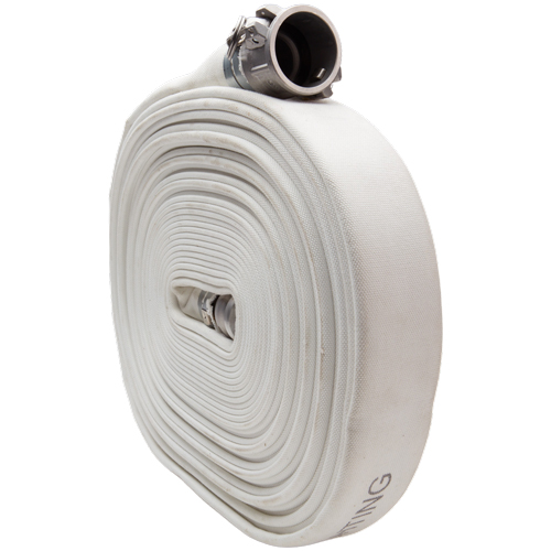 "White 2"" x 100 Camlock Single Jacket Mill Hose"