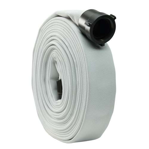 "White 2"" x 50 Single Jacket Mill Hose (Alum NPSH Couplings)"