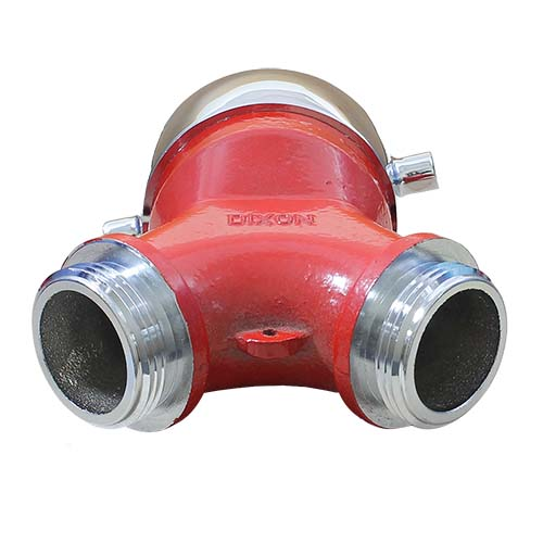 """Plain Wye 2 1/2"""" NH Inlet x (2) 1 1/2"""" NH Outlet"""