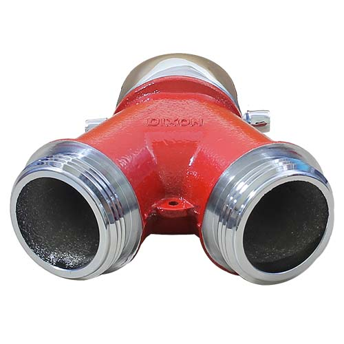"""Plain Wye 1 1/2"""" NH Inlet x (2) 1 1/2"""" NH Outlet"""