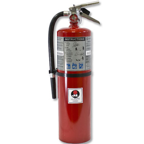 Commercial Grade Fire Extinguisher 5 Pound ABC Dry Chemical