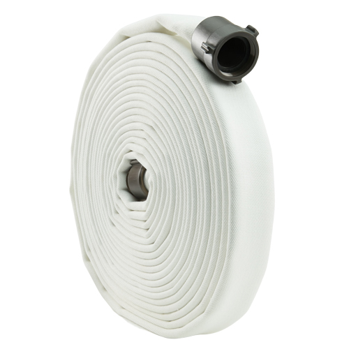 "White 2 1/2"" x 25 Double Jacket Mill Hose (Alum NH Couplings)"