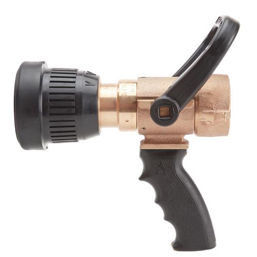 Brass U.S. Coast Guard 1 1/2 Shipboard Vari-Nozzle with Pistol Grip (NPSH)