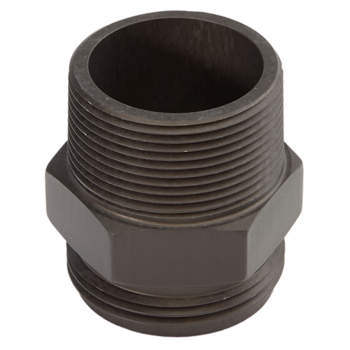 """Aluminum 1 1/2"""" NH to 1 1/2"""" NPT Double Male (Hex)"""