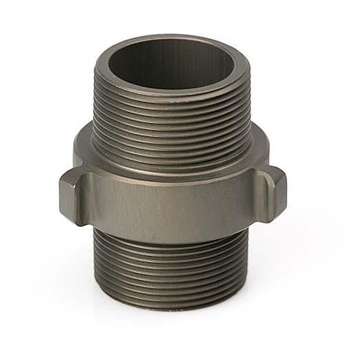 "Aluminum 1 1/2"" NPT to 1 1/2"" NPT Double Male Rocker Lug Double Male To Male Adapter"