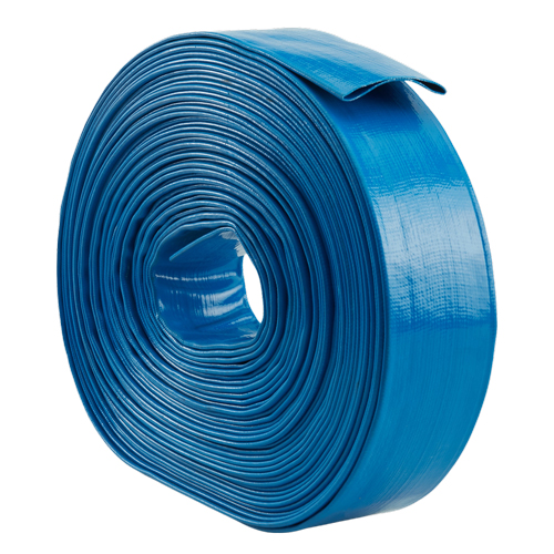 "Blue 4"" x 100 Lightweight Uncoupled Discharge Hose"