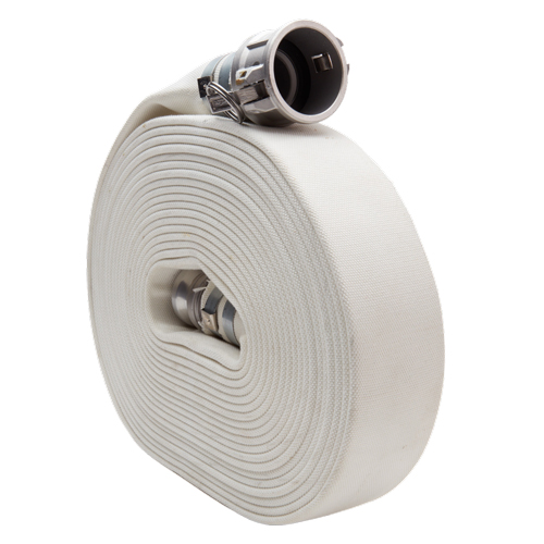 "White 4"" x 50 Camlock Double Jacket Mill Hose"
