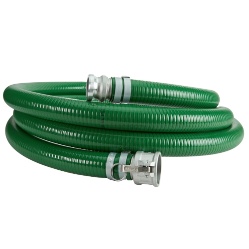 "Green 4"" x 20 Camlock Suction Hose"