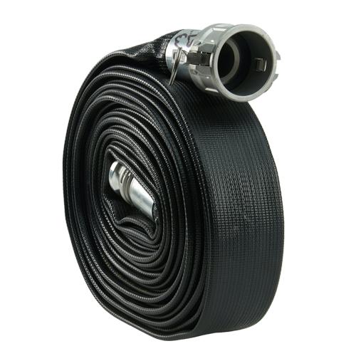 "Black 4"" x 50 Camlock Rubber Heavy-Duty Hose"