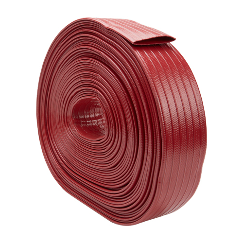 """Red 4"""" x 100 Medium-Duty Uncoupled Discharge Hose"""