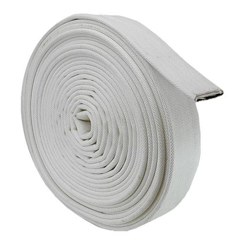 """White 4"""" x 100 Single Jacket Uncoupled Mill Hose"""