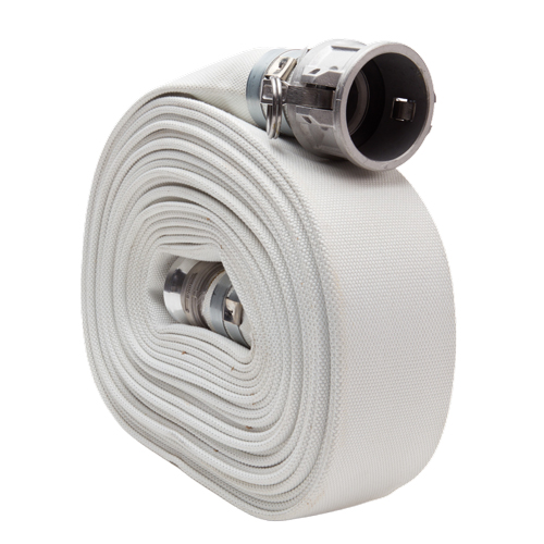 "White 4"" x 50 Camlock Single Jacket Mill Hose"