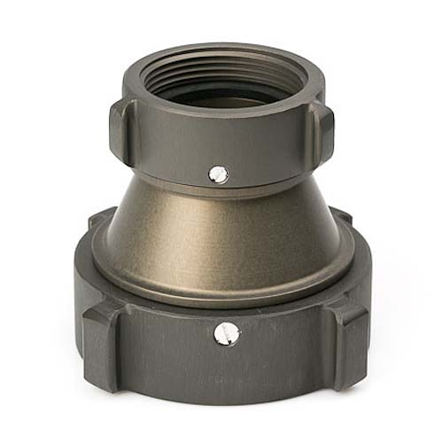 "Aluminum 4"" NPT to 2 1/2"" NH Double Female"