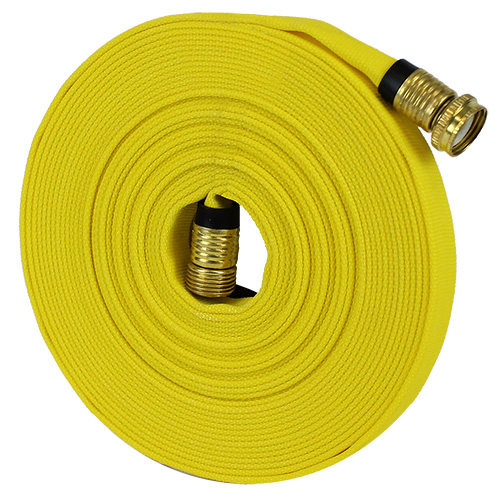 "Yellow 5/8"" x 50 Forestry Hose (Brass Garden Hose Couplings)"