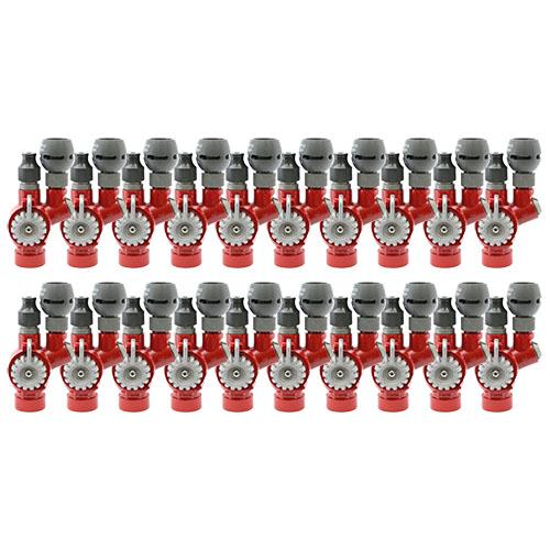 """1"""" Red Twin Tip Forestry Nozzle NPSH Threads (20-Pack)"""