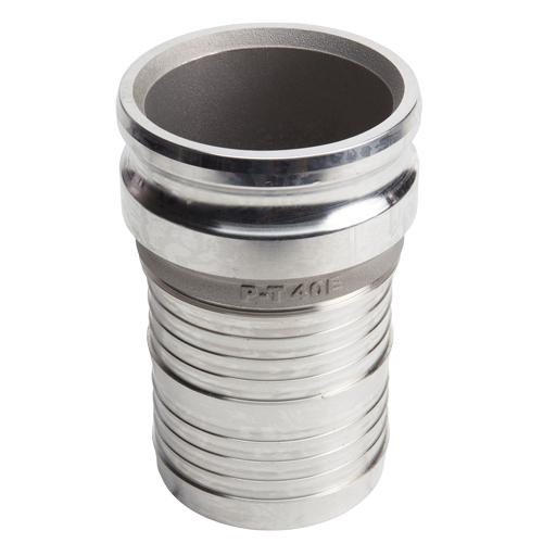 "Aluminum 4"" Male Camlock to 3"" Hose Shank (USA)"
