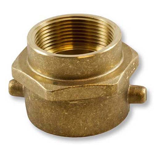 "Brass 2 1/2"" Swivel NH to 1 1/2"" Rigid NPT Double Female Brass Swivel Female To Female Adapter"