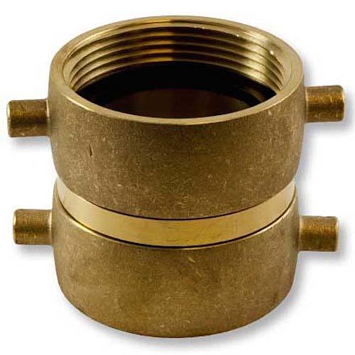 """Brass 2 1/2"""" Swivel NH to 2 1/2"""" Swivel NPSH Double Female Brass Double Female Adapter"""
