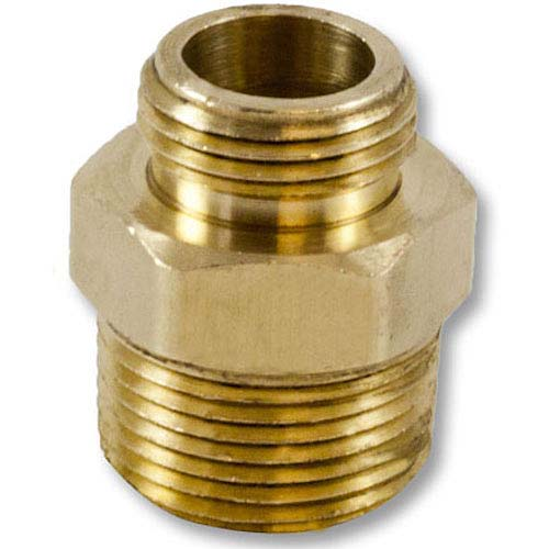 """Brass 1"""" NPT to GHT Double Male (Hex) Brass Double Male To Male Adapter"""