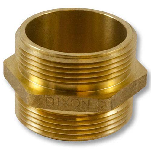"""Brass 2 1/2"""" NH to 2 1/2"""" NPT Double Male (Hex) Brass Double Male Adapter"""