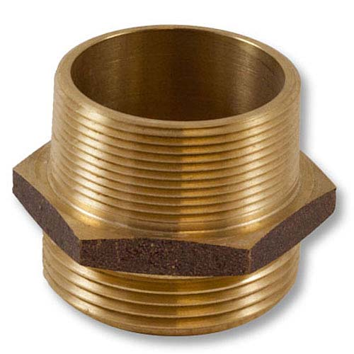 "Brass 2"" NPT to 2"" NPT Double Male (Hex) Brass Double Male Adapter"