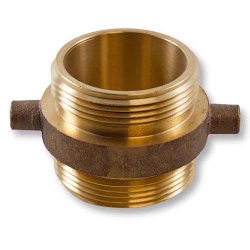 """Brass 2 1/2"""" NH to 2 1/2"""" NPSH Double Male (Pin Lug) Brass Double Male Adapter"""