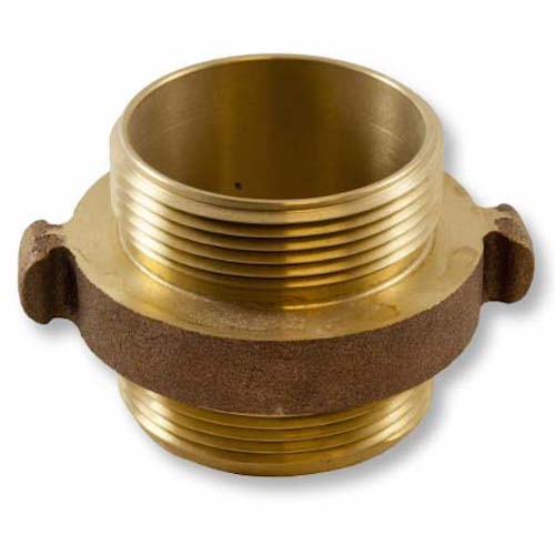 """Brass 2 1/2"""" NH to 2 1/2"""" NH Double Male (Rocker) - USA Brass Double Male Adapter"""