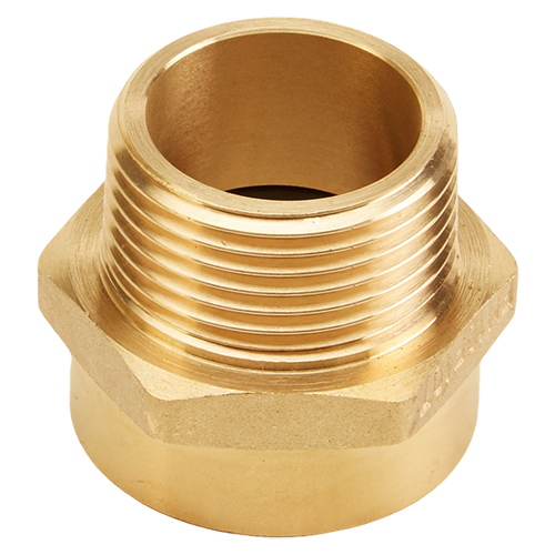 "Brass 1"" Female NH to 1"" Male NPT (Hex)"