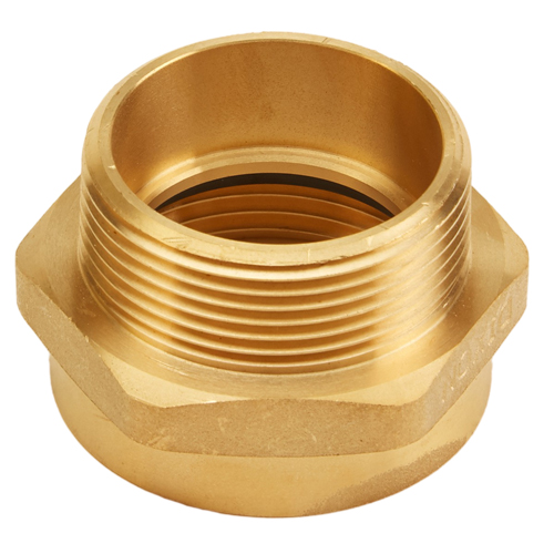 "Brass 1 1/2"" Female NH to 1 1/2"" Male NPT (Hex)"