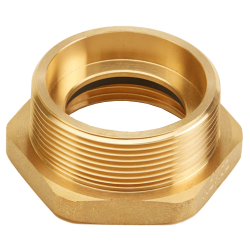 "Brass 1 1/2"" Female NH to 2"" Male NPT (Hex)"
