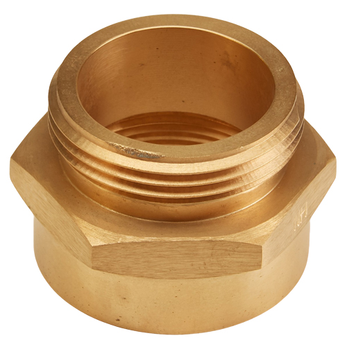 """Brass 1 1/2"""" Female NPT to 1 1/2"""" Male NH / NST (Hex) - USA"""