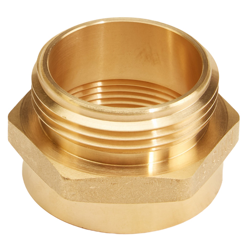 "Brass 1 1/2"" Female NPT to 1 1/2"" Male NH / NST (Hex)"
